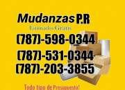 Mudanzas económicas,  estimados gratis   787-598-0344 comerciales y residenciales