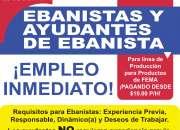 EBANISTAS Y  AYUDANTES DE EBANISTA