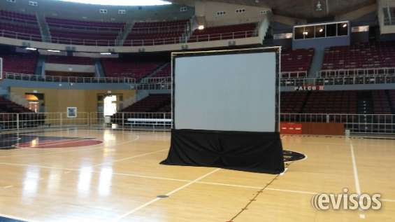 Servicio y alquiler de pantallas gigantes con proyector en puerto rico 7876739776