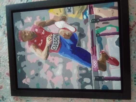 Orgullo boricua , pintura de javier culson nuestro atleta .