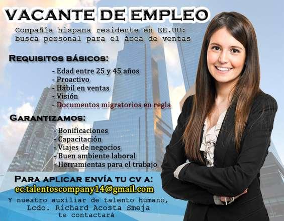 Empleo disponible en compañía estadounidense