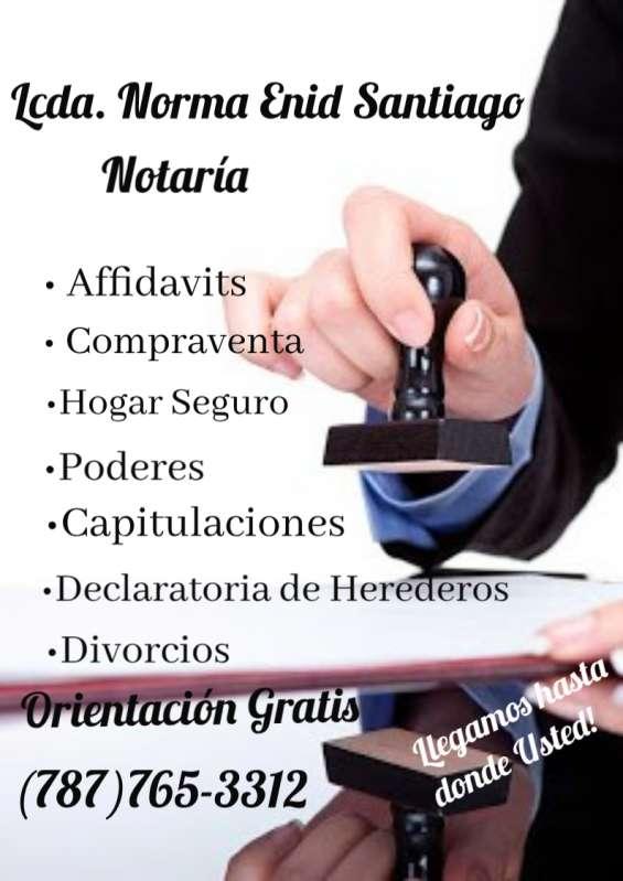Servicios de notaria