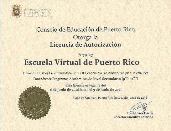 Certificados por el consejo de educación de puerto rico