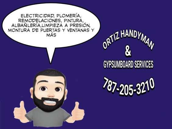 Ortiz handyman& gypsumboard services