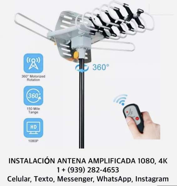 Instalación antena amplificada 1080 - 4k